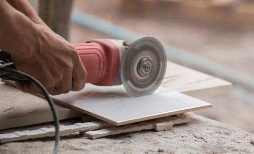 Cutting Tile with a Angle Grinder