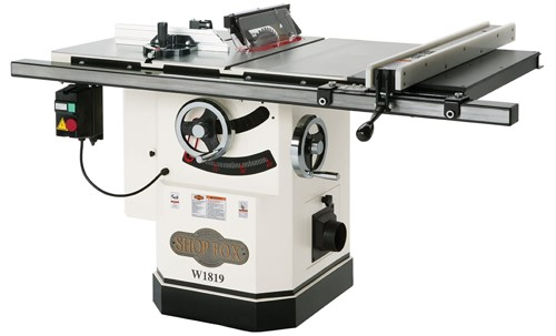 Shop Fox W1819 3 Hp 10-inch Table Saw with Riving Knife