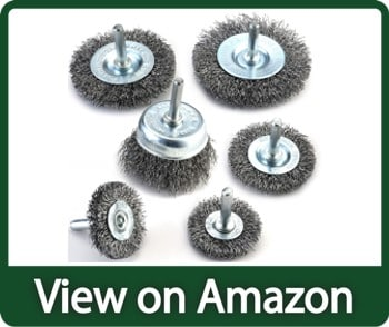 TILAX Wheel Cup Wire Brush for Drill to Remove Rust