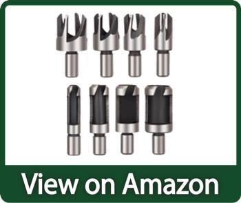 Rocaris 8pcs Wood Plug Cutter Drill Bit Set