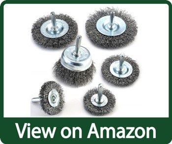 TILAX Wire Brush Wheel Cup Brush Set 6 Piece, Wire Brush for Drill