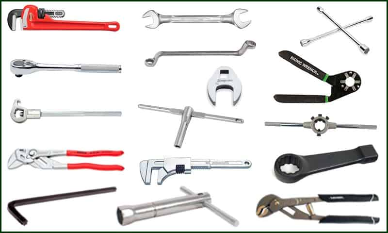 different types of wrenches