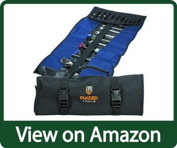 Rugged Tools 32 Pocket Tool Roll Wrench Organizer & Tool Pouch